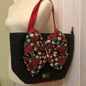 BETSEY JOHNSON LARGE BIG BOW BAG LOVE COLLECTION